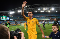 'This is the only time you'll see me cry' - Australia's greatest-ever player Cahill bids an emotional farewell
