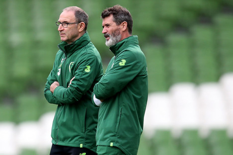 Martin O'Neill, left, and Roy Keane.