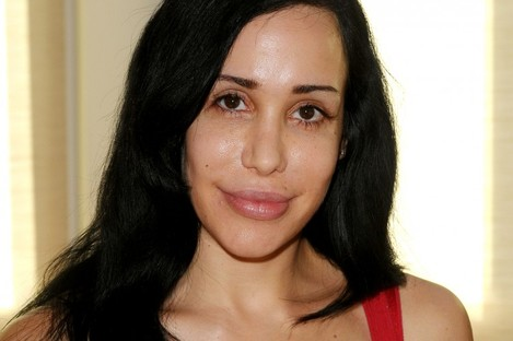 """Nadya """"Octomom"""" Suleman at a yard sale held at her home in La Habra, California, in 2010."""