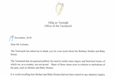 Bethany Home survivors 'shocked' to receive first letter from a Taoiseach 'in 20 years'