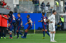 Real Madrid slump to stunning defeat to Eibar in Solari's first game