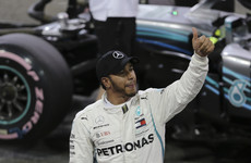 Lewis Hamilton on pole with record lap as Mercedes dominate