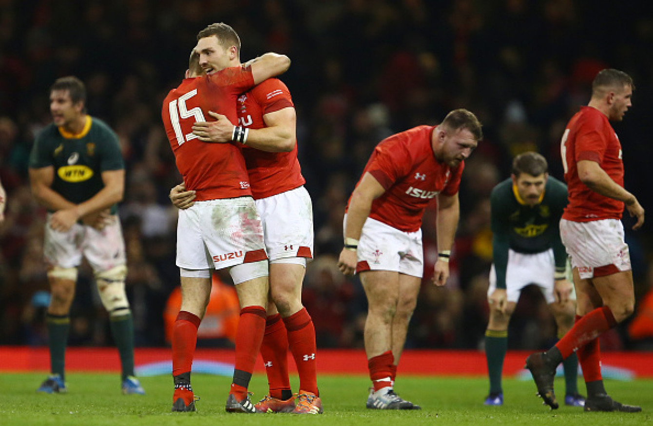 Jenkins guides Wales past Springboks to extend winning