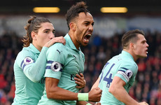 Aubameyang strike the difference as Arsenal's unbeaten run reaches 17 matches