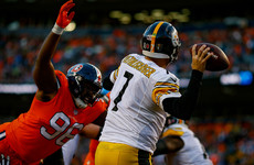 Steelers' six-game winning streak snapped with loss to Broncos