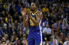 Durant explodes for 49 but deflects praise onto 'phenomenal' Thompson