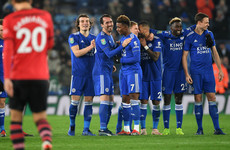 Leicester win Saints shoot-out to book Man City clash