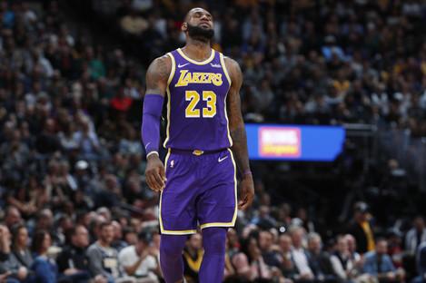 Lakers power forward LeBron James.