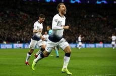 Super sub Eriksen keeps Tottenham's Champions League hopes alive