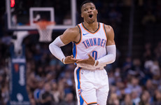 Dominant Westbrook hit the 107th triple-double of his career last night