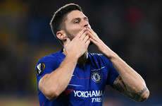 Giroud bags first-half brace as Chelsea top group with comfortable win at home