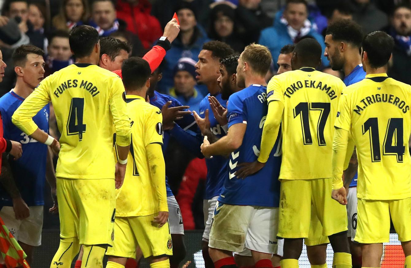 Gerrard's 10-man Rangers secure precious point to keep Europa League