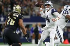 Cowboys end Saints' 10-game winning streak