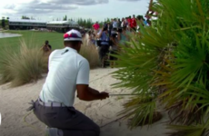 'Not discernible to the naked eye': Woods avoids penalty for possible double-hit