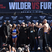 Tyson Fury weighs in 44lbs heavier than Deontay Wilder as heavyweight title decider looms