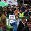 Thousands march through Dublin city centre to protest housing crisis