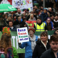 Thousands march through Dublin city centre to protest housing crisis