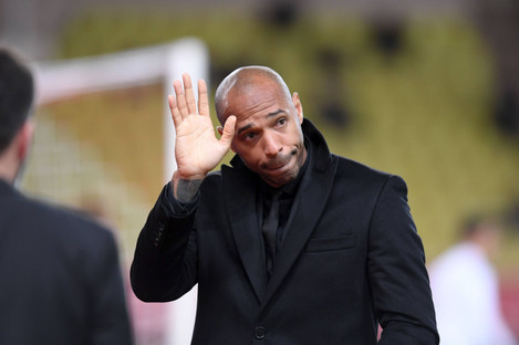 Thierry Henry pictured during tonight's match.