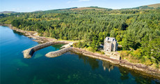 Enjoy breathtaking sea views from your own castle - complete with underground cave pool