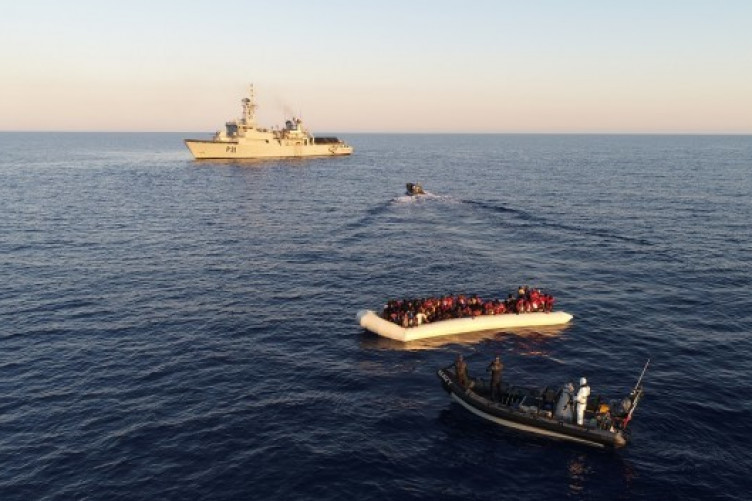 Picture supplied by Irish Defence Forces from naval operation.