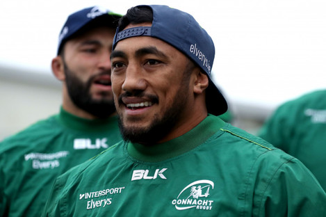Aki trained with Connacht in Galway yesterday.