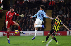 Man City survive late scare at Watford to extend lead at Premier League summit