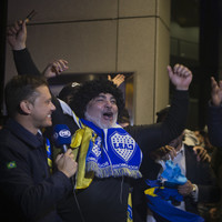 Watch: Boca Juniors swamped by army of fans as they arrive for Copa final in Madrid