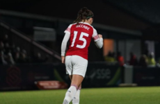 On the double! Ireland skipper bags brilliant brace as Arsenal rack up big win