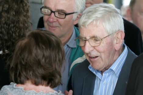 Dónall Farmer pictured at the funeral of Glenroe actor Mick Lally min 2010.
