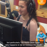 iRadio gave a lovely surprise to a 15-year-old girl from Donegal who's currently doing work experience on the station
