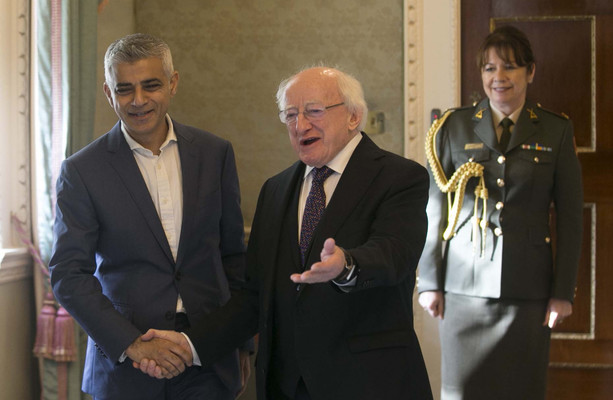 London Mayor on Brexit during Dublin visit: 'My worry is we're sleepwalking into falling off a cliff edge'