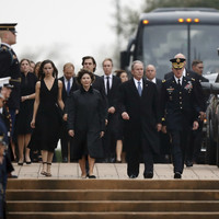 Former US president George HW Bush laid to rest in Texas
