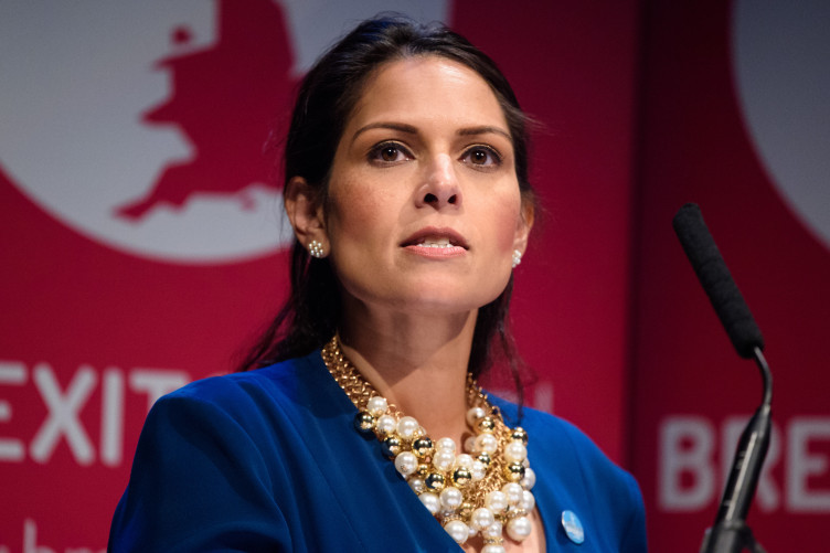 Priti Patel speaking at a fringe event organised by Brexit Central, during the Conservative Party annual conference.