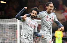 Salah hat-trick sees Liverpool climb top of the league as Klopp's men ease past Cherries