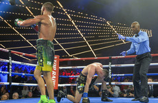 Three-weight world champion Lomachenko unifies lightweight belts with explosive finish