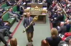'Put it back!': Labour MP ejected from House of Commons after taking ceremonial mace