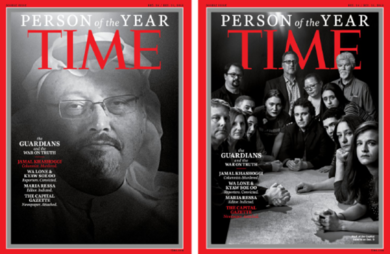 'The Guardians': Jamal Khashoggi and other journalists named Time Person of the Year