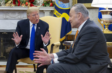 Trump accused of 'temper tantrum' after White House meeting with Democrats descends into row