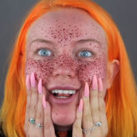 A Youtuber tried to give herself henna freckles, and obviously it was a total disaster