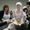 Over 450 poor and homeless people will be given a Christmas Day dinner at the RDS today