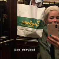 Lily Allen paid a visit to Zaytoon after her Dublin gig last night