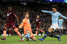 Sane double helps Man City come from behind to secure Champions League group top spot