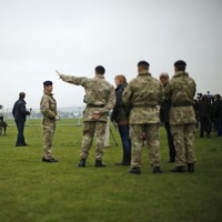 British military carry out security tests ahead of Olympics
