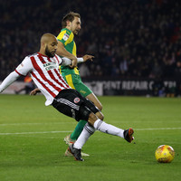 Ireland's David McGoldrick opened the scoring for Sheffield United tonight with this tidy finish