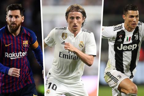 Rivals: Messi, Mordic and Ronaldo.