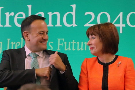 Taoiseach Leo Varadkar and Culture Minister Josepha Madigan.