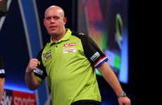 Van Gerwen 'emotional' after drink was thrown over him at PDC World Darts Championship