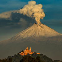 One of Mexico's most active volcanoes has unleashed two enormous eruptions