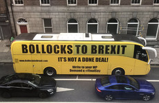 The Bollocks to Brexit bus drove through Dublin today