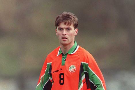 Boland during an Ireland U21 international game in 1997.
